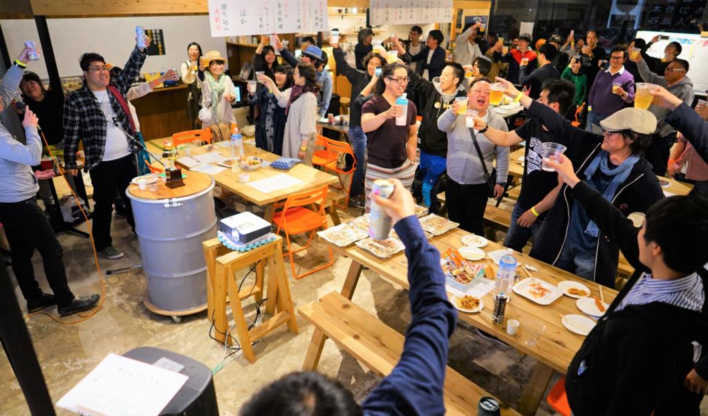 地元・移住者・多拠点生活者、みんな関係なく集まる大飲み会(2019年開催)