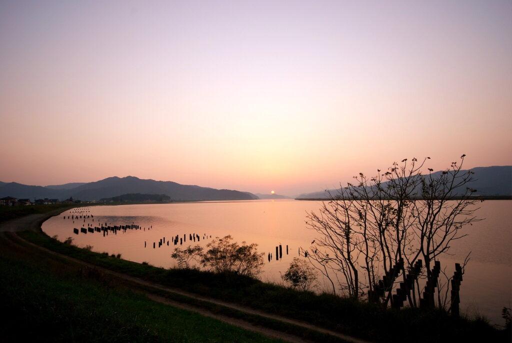 北上川の風景は一度見たら忘れられません